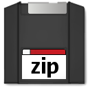 Dev, storage, zipdisk Icon