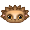 Animal, hedgehog Black icon