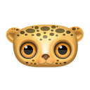leopard, Animal Black icon