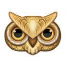 Animal, owl Black icon