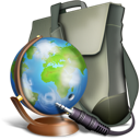 world, Bag, travel, Browse DimGray icon