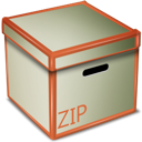 Box, Zip Silver icon