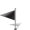 pinpoint, flag, flag1leftblack Black icon