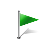 pinpoint, flag, flag1rightgreen Black icon