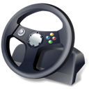 gamepad, steering wheel, controller DarkSlateGray icon