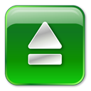button, Eject ForestGreen icon