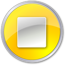 button, stop Gold icon