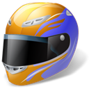 helmet, motorsport Black icon