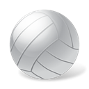 Ball, volleyball, sports Black icon