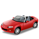 transport, Mx, red, mazda, Car, Cabriolet, vehicle Black icon