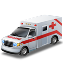red cross, doctor, transportation, emergency, vehicle, Car, Ambulance Black icon
