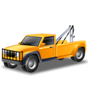 cars, Car, transportation, towtruck, yellow, vehicle Black icon