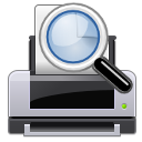 document, Print, preview Black icon