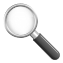 zoom, search Black icon