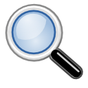 original, search, Magnifier, zoom CornflowerBlue icon