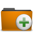 Archive, to, Folder, Orange, Add DarkGoldenrod icon