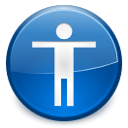 technologies, Accessibility, Gnome SteelBlue icon