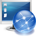 screen, internet, monitor, online SteelBlue icon