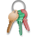 Key, security, keychain, locked, password, Lock Black icon