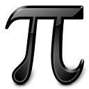 preferences, Kcalc, Constants, pi Black icon