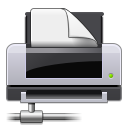network, printer Black icon