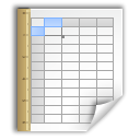 opendocument spreadsheet, Application, template Black icon