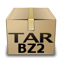 Tar, bzip, mime, Compressed Tan icon