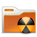 Radioactive, Folder, Burn Chocolate icon