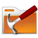 Folder, tool, hammer Chocolate icon