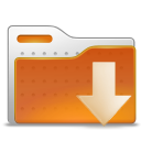 download, Arrow, Folder, Down Chocolate icon