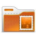 Email, Stamp, Folder Chocolate icon