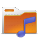 sound, music, Folder Chocolate icon