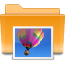 Folder, Kde, image Goldenrod icon