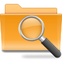 search, Folder Goldenrod icon