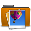 Folder, picture, image, Orange DarkGoldenrod icon