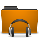 Folder, sound, Orange DarkGoldenrod icon