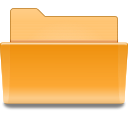 Orange, Folder Goldenrod icon