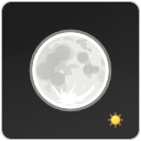 Clear, night, weather DarkSlateGray icon