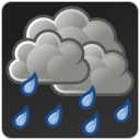showers, weather, scattered, Rain DarkSlateGray icon