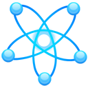 science, Atom DodgerBlue icon
