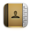 contacts, Address book DarkKhaki icon