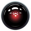 light, red, space, 9000, hal Black icon