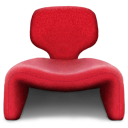 Chair, seater, Seat Crimson icon