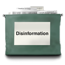 Disinformation DarkSlateGray icon