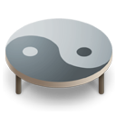 Table ying yang Silver icon