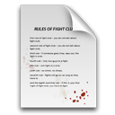 document, rules, paper, Blood, Fight club Gainsboro icon