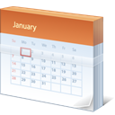 Calendar, date, january Lavender icon