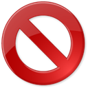 approve, cancel, delete, reject, Block Firebrick icon