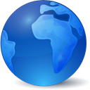 Browser, globe, earth, global, world RoyalBlue icon