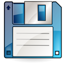 Disk, Filesave WhiteSmoke icon